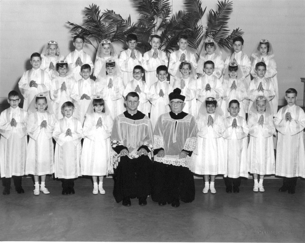 St. Barbara's 1968 Communion Class Made their First Holy Communion on May 12, 1968 (Source: SBC)