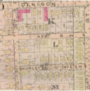 Platmap showing Jacob Schneider Allotment. Denison Ave., Selzer Ave., Hurley Ave., W.23rd St., W.22nd St.