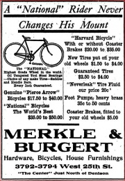 1908 newspaper ad